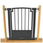 Royal Weave Doorway Dog Gate - Black