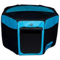 "Pet Gear Travel Lite Soft-Sided Pet Pen with Removable Top Ocean Blue 46"" x 46"" x 28"""