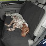 Petego Dog Car Seat Protector, Rear, Black, X-Large