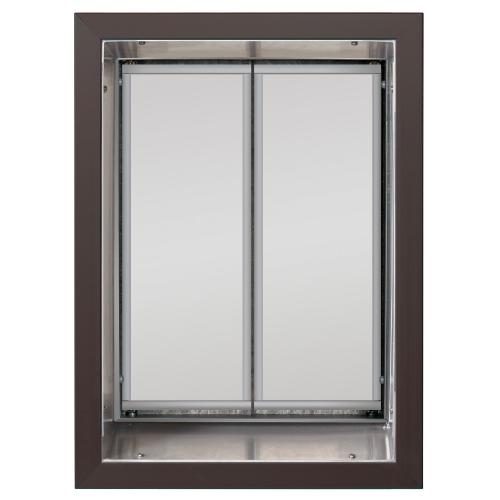 Plexidor X Large Exterior Wall Unit Performance Pet Door Bronze