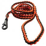 Bison 6ft Survival Dog Lead - Orange/Black