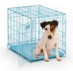 "Mid-West Metal Products iCrate Single Door Dog Crate, Blue - 24"" x 18"" x 19"""