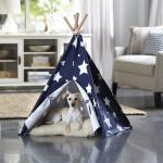 Merry Products Blue with White Stars Large pet Teepee