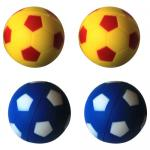 6 Pack Bouncing Sponge Football - Yellow/Blue - 12 Pieces