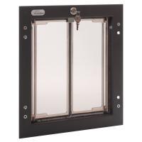PlexiDor Medium Exterior Door Application Performance Pet Door, Bronze